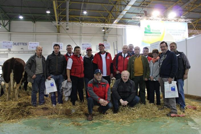 Membres Maine-Anjou sur 11/7/2014 sur le Salon Agricole Agrimax Metz